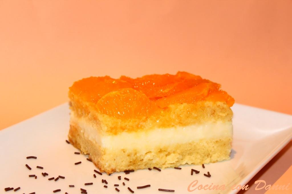 Tarta de naranja confitada