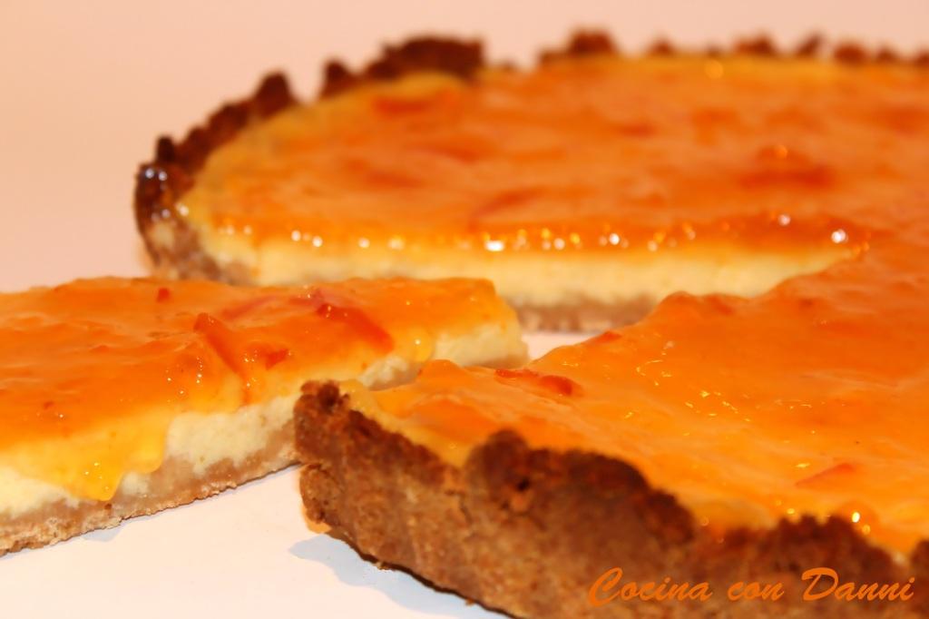 Tarta rústica de naranja y mascarpone